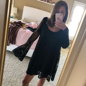 Show Me Your Mumu Black Bell Sleeve Dress